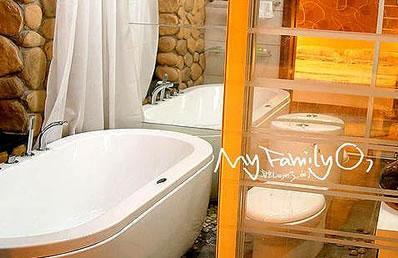 鹅卵石浴室