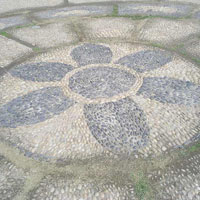鹅卵石道路 鹅卵石图片